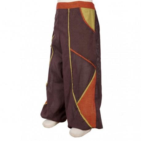 Pantalon garcon bouffant marron