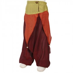 Pantalon afgano chica etnico hada rojo violaceo