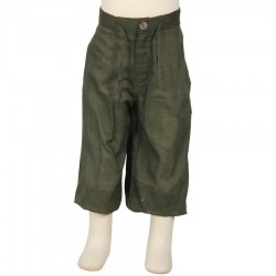 Hippy short trousers kid plain green army