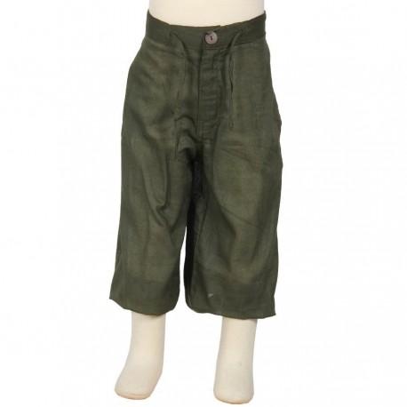 Hippy short trousers kid plain green army