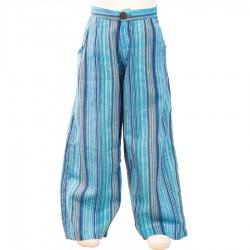 Pantalon hippie chico turquesa