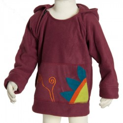 Girl ethnic polar sprite hood dark red