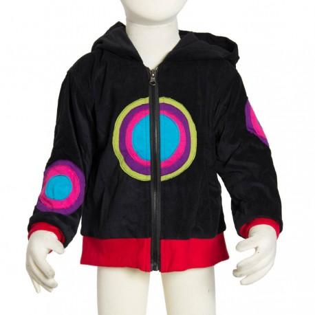 Kid velvet psychedelic jacket black