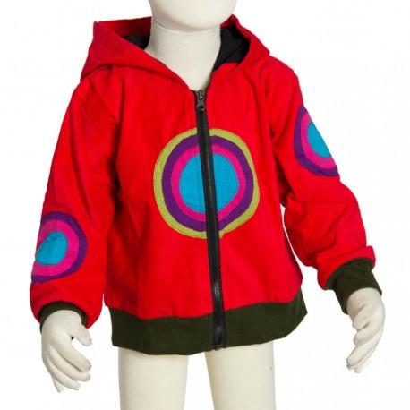 Kid velvet psychedelic jacket red