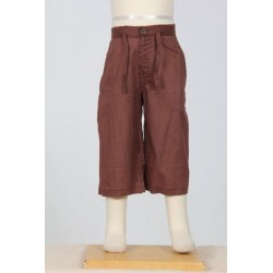 Hippy short trousers kid plain brown