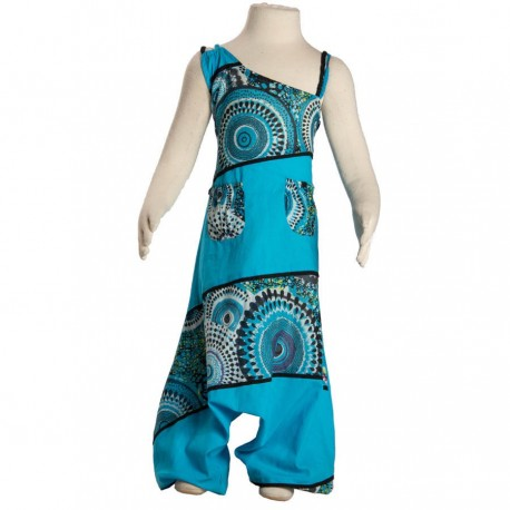 Combi Sarouel enfant turquoise