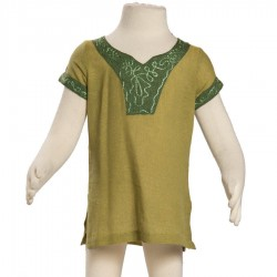 Kid nepalese tunic lemon green
