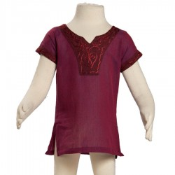 Girl nepalese tunic violet