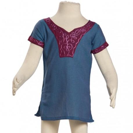 Kid indian tunic blue