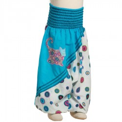 Hippy ethnic afghan pants printed cats