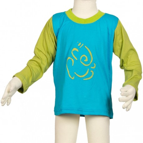 Ganesh long sleeves tee-shirt turquoise