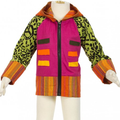 Ethnic jacket pink, orange and lemon