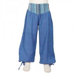 Pantalon fille bouffant Aladin bleu