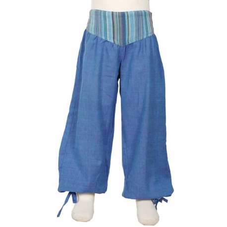 Baggy girl trousers Aladin blue