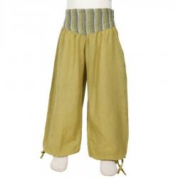 Pantalon fille bouffant Aladin vert anis