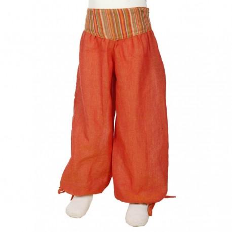 Pantalon fille bouffant Aladin orange