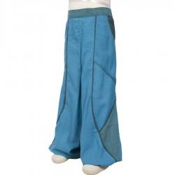 Pantalon garcon bouffant turquoise