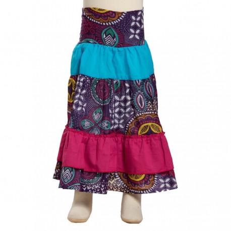 Falda larga nina bohemia violeta