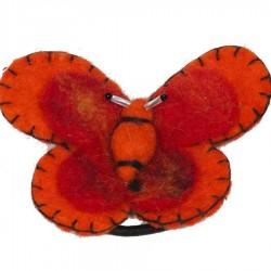 Elastique cheveux chouchou papillon rouge