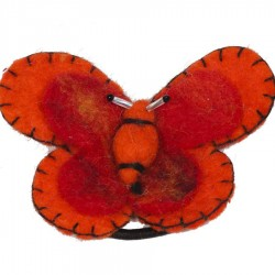 Hair rubber band elastic butterfly red