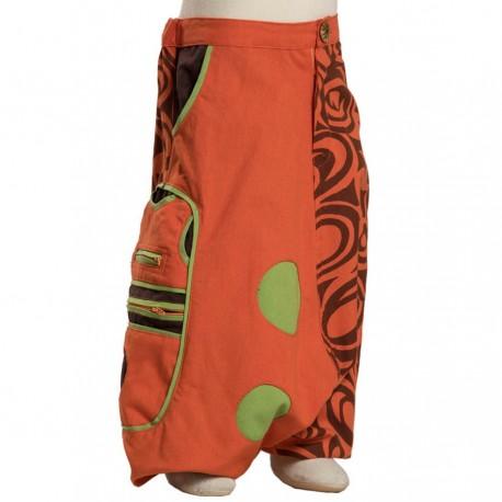 Pantalon afgano tribal niño