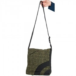Ethnic cotton shoulder bag army