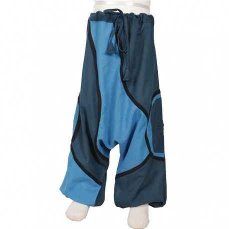 Pantalon afgano etnico turquesa   18meses