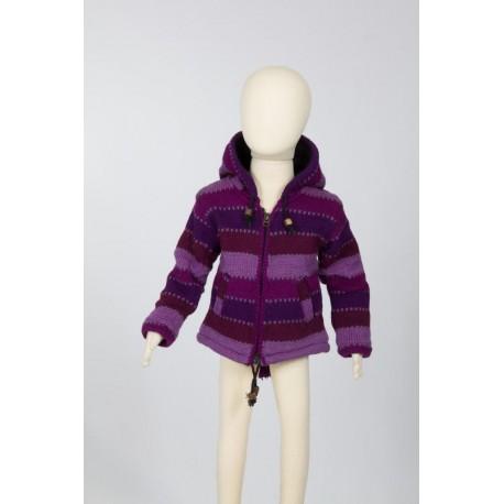 6months purple wool jacket