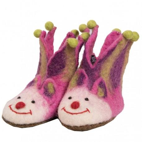 Zapatillas lana hervida chica jocker rosa