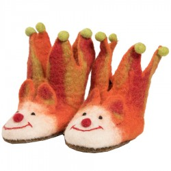 Felt kids slippers orange jocker