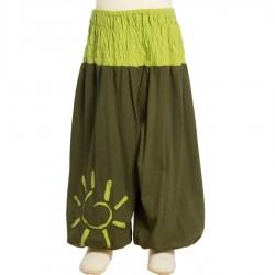Ranita hippie verde caqui 3anos