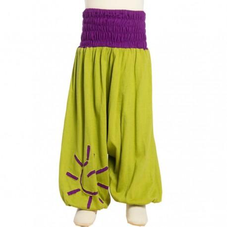 Hippy baby afghan trouser lemon 12months