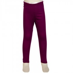 Ethnic legging kid girl plain violet