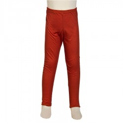 Ethnic legging kid girl plain orange