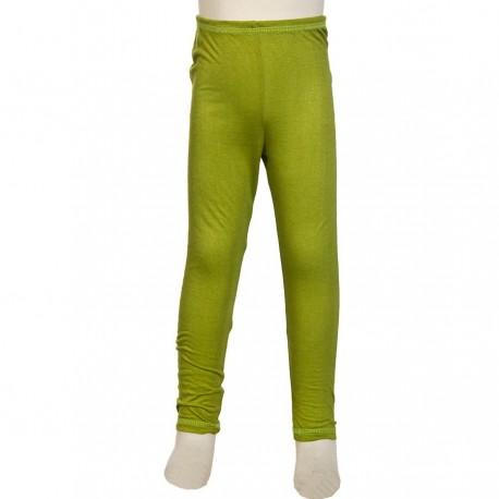 Ethnic legging kid girl plain lemon green