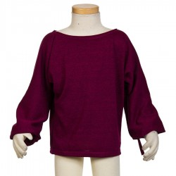 Girl tunic ethnic long bat sleeves violet