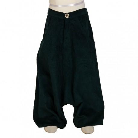 Pantalon afgano etnico invierno terciopelo petroleo 14anos
