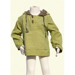 Poncho jumper hood jacket reversible lemon green