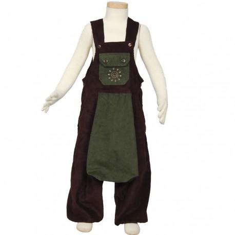 Kid afgani overall velvet brown