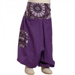 Sarouel pantacourt enfant violet