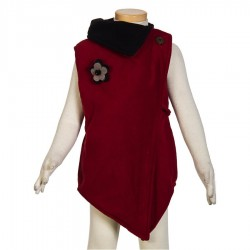 Ethnic polar girl sharp without sleeves red
