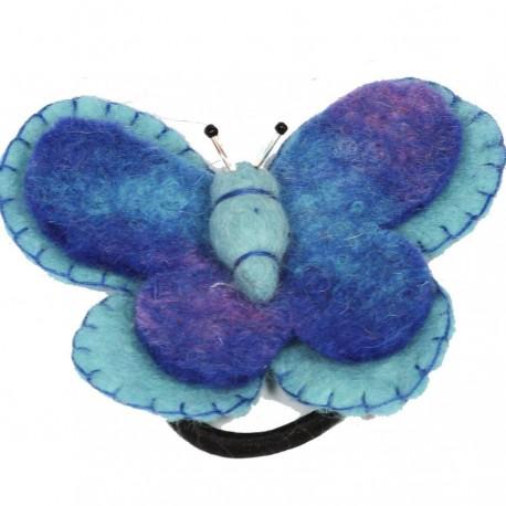 Elastique papillon enfant bleu