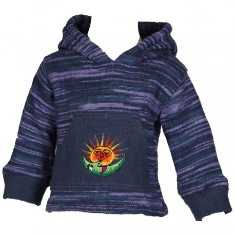 Blue sharp hood sweatshirt    3years