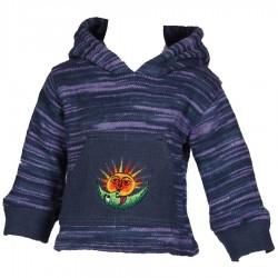 Sweatshirt capuche lutin garçon bleu 2ans