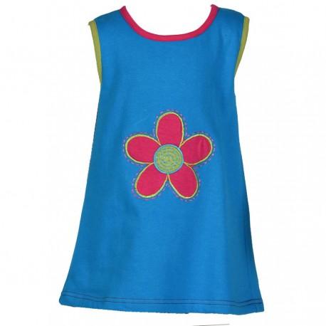 Robe baba cool fleur turquoise