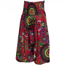 Girl printed indian marroccan trousers pink