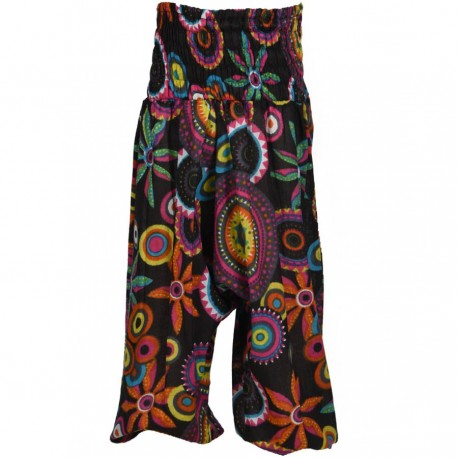 Kid indian cotton marroccan trousers printed black