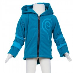 Veste polaire baba cool capuche lutin petrole turquoise