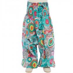 Pantalon afgano algodon indio smock azul petroleo