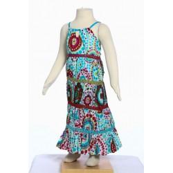 Vestido chica larga bohemia hippie algodon india blanca
